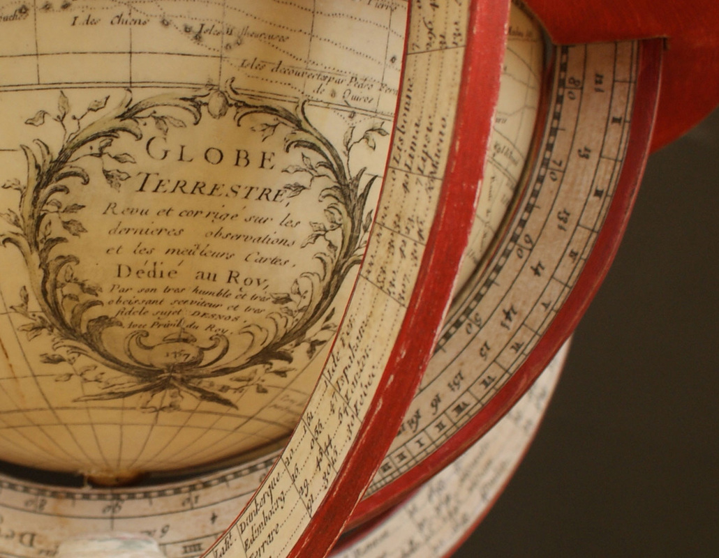 Guillaume Delisle Globe, table globe, french globe