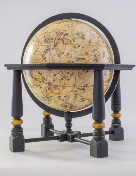 Cassini celestial globe with ebonies stand with gold rings