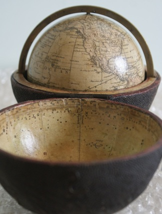 newton pocket globe, restored globe, globe restoration
