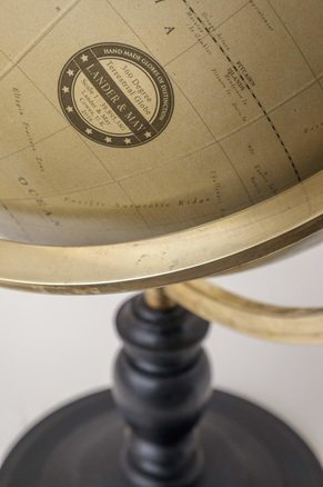 modern 360 degree globe, lander and may globe