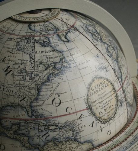 Giovanni Maria Cassini     13 inch hand coloured terrestrial globe