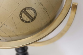 360 degree globe, globe cartouche, globe label