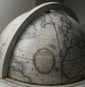 Giovanni Maria Cassini     13 inch hand coloured terrestrial globe 3